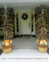 Corn Stalk Decoration Ideas Fall Decorating Ideas For The Front Porch U2013 Decoto
