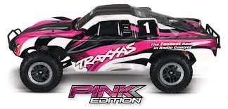 traxxas monster jam trucks pink edition slash 1 10 2wd s c race truck rtr hobby recreation