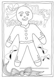 christmas coloring pages printables gingerbread man