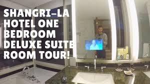 shangri la hotel one bedroom deluxe suite room tour expensive