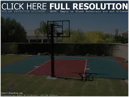 backyard basketball court ideas stencils layouts dimensions