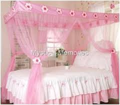 Princess Canopy Bed Pink Princess Mosquito Net 4 Poster Bed Canopy Single Bed