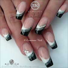 luminous nails white silver u0026 black acrylic nails inspired by