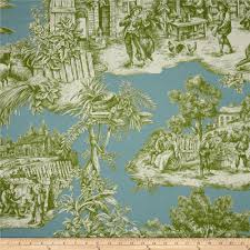 Lightweight Fabric For Curtains Duralee Home Ernest Toile Aqua Green From Fabricdotcom Screen
