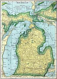 A Map Of Michigan by Michigan Genealogy Free Genealogy Access Genealogy