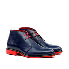 unique handcrafted blue red bottom chukka boot u2013 le ruux