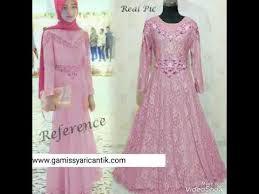 Baju Muslim Dewasa Ukuran Kecil model baju gamis pesta brokat 081213381472