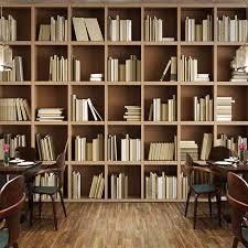 bibliothek wohnzimmer shop kundenspezifische wandtapete bücherregal bibliothek