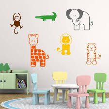 jungle wall stickers nursery animal wall stickers