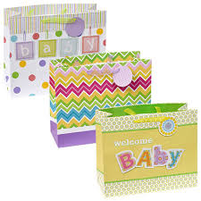 baby shower gift bags bulk voila large horizontal baby shower gift bags at dollartree