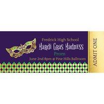 personalized mardi gras mardi gras mask personalized tickets shindigz