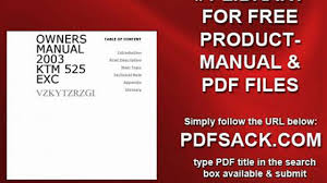 owners manual 2003 ktm 525 exc video dailymotion