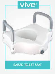 Commode Seats Amazon Com Raised Toilet Seat By Vive Portable Elevated Riser