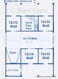 10 Stall Horse Barn Plans Compare Barn Plans With Living Quarters 4 5 Stalls 3 Bedrooms
