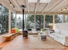 wood ceiling designs living room rustic living room with stained wood ceiling u0026 brick floors