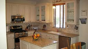 Refinish Oak Kitchen Cabinets by Old And Rustic Kitchen With Wall Mounted Microwave Under White
