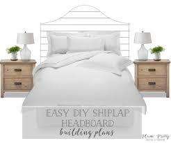 plum pretty decor u0026 design co easy diy shiplap headboard with free