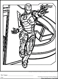 avengers coloring book printable pdf pages marvel