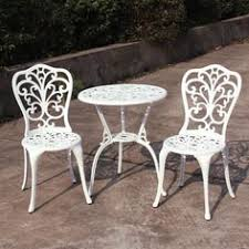 Next Bistro Table Set Of 3 Iron Garden Furniture Set Shabby Chic Table And Chairs