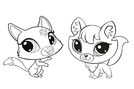 littlest pet shop coloring pages minka coloringstar