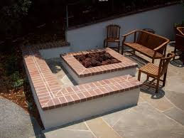 Fire Pit Diy Amp Ideas Diy Simple Cute Red Brick Patio Designs Above Sand Textured Retaining