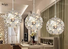 Crystal Light Fixtures Dining Room - 3 lights floral crystal light fixture crystal pendant hanging