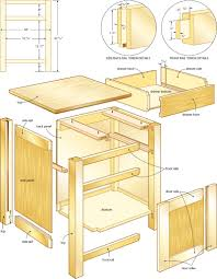 simple wood nightstand plans