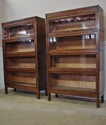 Lawyers Bookcase Antique Oak Barristers Bookcase Pair Lawyers 4 Section Stacks By