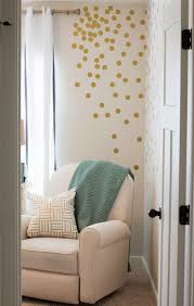 8 fun and easy ways to use polka dot wall decals view in gallery gold polka dot wall decals in corner