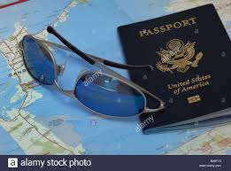 United States Travel Map by A United States Passport Sunglasses And A Folded Map Of Bermuda