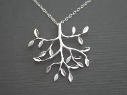 silver tree necklace tree necklace tree jewelry bridal