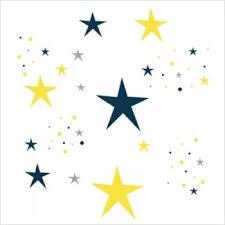 stickers étoiles chambre bébé stickers etoiles magiques bleu nuit et jaune lili pouce