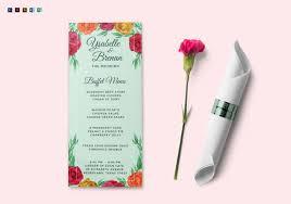 29 wedding menu template u2013 free sample example format download
