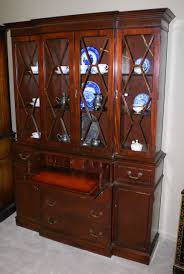 Antique Curio Cabinet With Desk China Cabinet Mahogany China Cabinet Antique China Cabinet