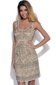 embellished dress vestry luxe beige embellished dress at vestry