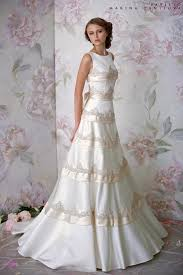 goes wedding simple elegant white and cream bridal wedding gown