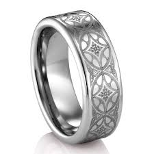 tungsten rings from images Artcarved citadel celtic engraved tungsten band 8mm png