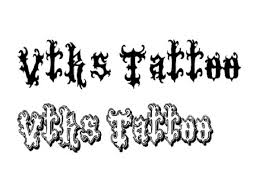 awesome tattoo lettering font on the back for men tattoo design