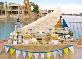 baby shower table settings creative nautical baby shower table setting with sailboat