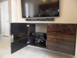 Flat Screen Tv Wall Cabinet by Interior Simple Home Interior Decoration With Dark Brown Wooden