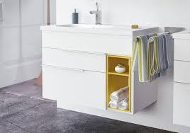 nook bathroom vanity ensemble mirror white yellow