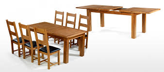 barham oak 180 250 cm extending dining table and 6 chairs