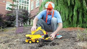 dump truck and excavator counting learn to count with blippi