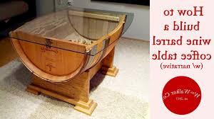 coffee table wooden barrel coffee table regarding great wine