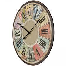 Wohnzimmer Uhren Holz Finebuy Deko Vintage Wanduhr Xxl ø 60 Cm Patchwork Holz Bunt