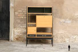 bureau secretaire antique bureau secrétaire vintage en bois pieds compas secretaire vintage
