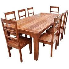 Wooden Dining Table Chairs Rustic Furniture Farmhouse Solid Wood Dining Table Chair Set