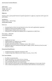 apprentice lineman resume objective 100 resume sample of