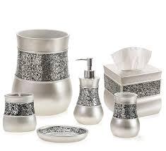 Nicole Miller Bathroom Accessories by Amazon Com Creative Scents Brushed Nickel Bathroom Accessories