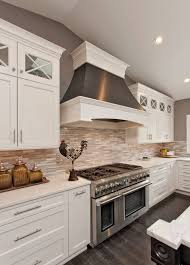 modern white kitchen backsplash kitchens with floors and light cabinets houzz small white